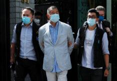 """""""จิมมี่ ไหล"""" นักธุรกิจสื่อฮ่องกงและนักเคลื่อนไหวเรียกร้องประชาธิปไตย"""