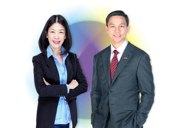 ชนิกานต์ โปรณานันท์ รองกรรมการผู้จัดการ Marketing & Operation Lead บริษัท ไมโครซอฟท์ (ประเทศไทย) จำกัด (ซ้าย) ณัฐวุฒิ อมรวิวัฒน์ กรรมการผู้จัดการใหญ่ (ร่วม)-ดิจิทัล บริษัท ทรู คอร์ปอเรชั่น จำกัด (มหาชน) (ขวา)